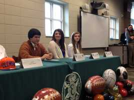 Several athletes at Easley High School participated in National Signing Day.