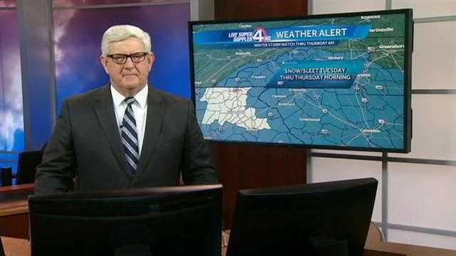 WYFF News 4 weather forecast for Upstate South Carolina and Western North Carolina