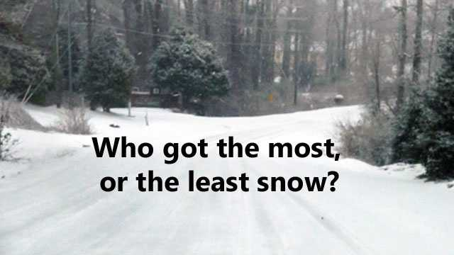 Who got the most snow in the Upstate and Western North Carolina?  Click through this slideshow (in alphabetical order by county) to see who had the most and the least.