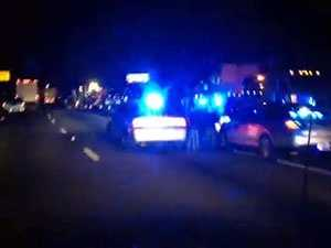 Traffic on northbound I-85 at mile marker 80 was backed up while investigators gathered evidence and cleared the scene.