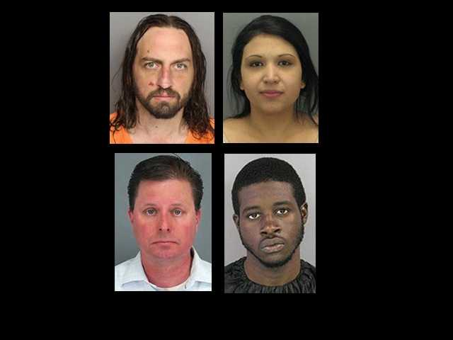 Check out these mug shots of those arrested or wanted in the Upstate in February.