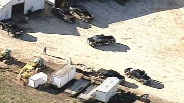 Sheriff John Skipper said the suspect stole this second truck from a construction site.