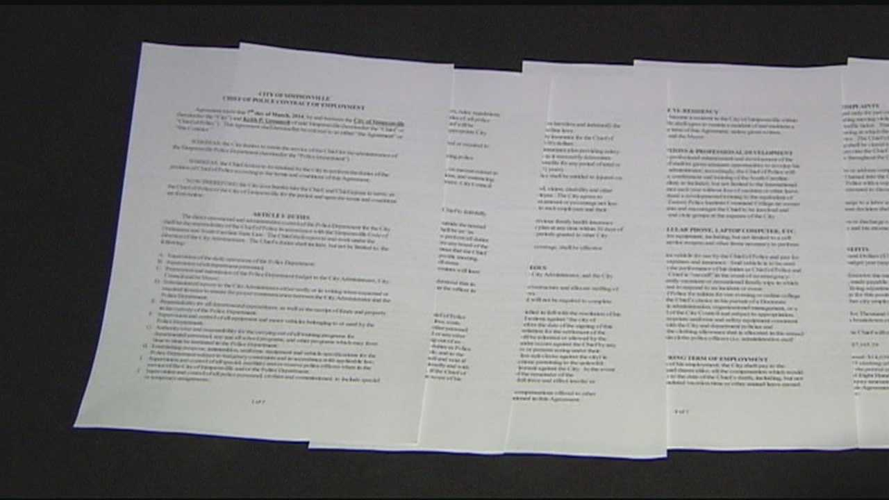 Proposed contract for re-instated police chief released