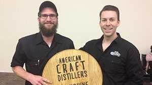 Head Distiller Paul Fulmer and Founder/President Joe Fenten
