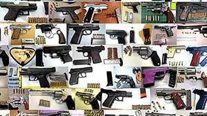 Guns confiscated by TSA