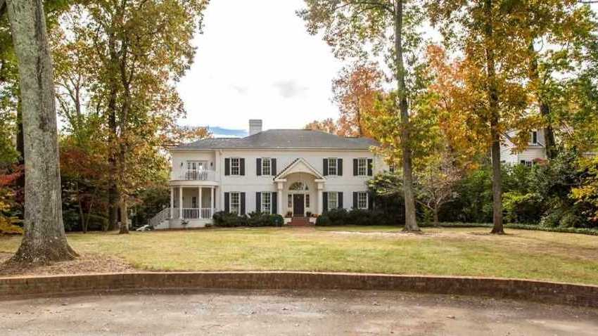 This five bedroom, six bathroom estate home near the Greenville Country Club is listed for sale on Realtor.com.