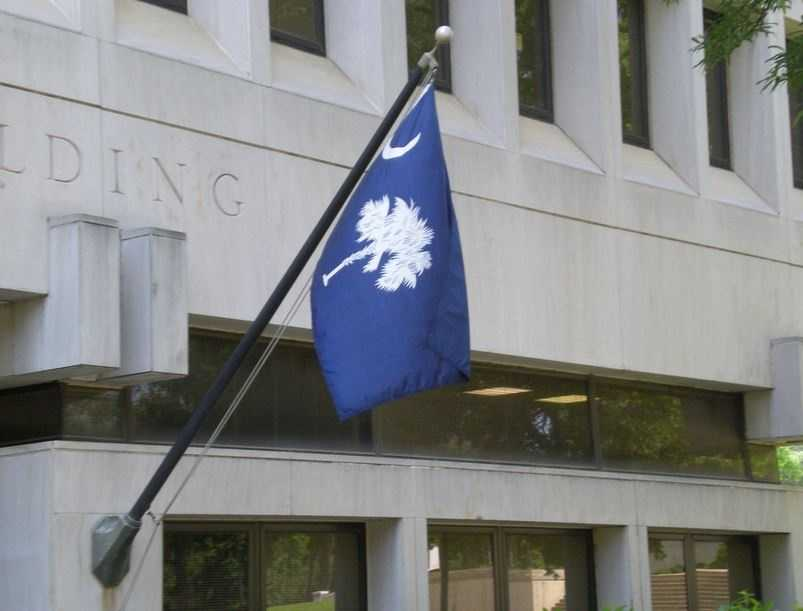 The state flag of South Carolina was officially adopted in 1861.