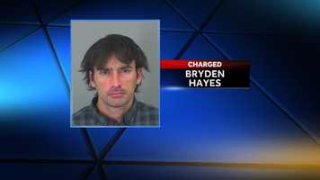 Bryden Hayes: charged with disorderly conduct and child neglect