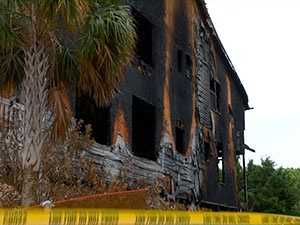 Fire at a Garden City beach home killed one person early on Easter Sunday.