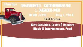 The Liberty Spring Festival and Cruz-In is May 3 in Downtown Liberty from 10 a.m.- 5 pm. Scheduled events include: arts, crafts, children activities, dunking booth, cake walk, displays from non-profit organizations, food, music and entertainment including a magic show. For more information: http://www.libertyscevents.com/p/automotive-showcase-festival.html