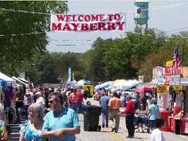 """The Mayberry Days Festival runs May 2-3 in Westminster. Main Street will come alive with faces, vehicles and characters known around the world from the 1960s television program """"The Andy Griffith Show."""" The festival also includes a parade, a car and tractor show, a trivia contest, crafts and food. For more information: http://westminstersc.com/mayberry/"""