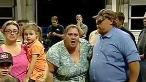 woman shouting at meeting