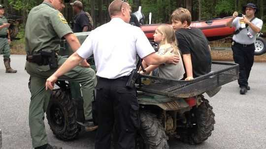 Children rescued at state park
