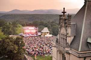 Concerts are on the south terrace of the Biltmore house.