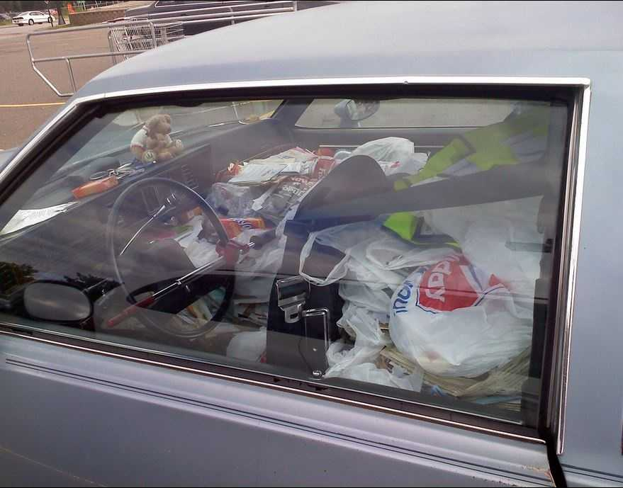In Hilton Head, it is illegal to store trash in your vehicle.