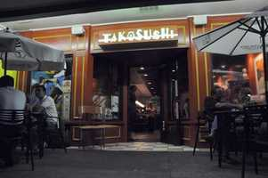7thPlace:  Tako Sushi, South Main Street, Greenville: 10 nominations