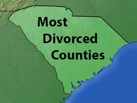 In the most recent Census, 10.4% of South Carolina residents identified themselves as divorced. See where each county ranks in a breakdown of divorce rates.
