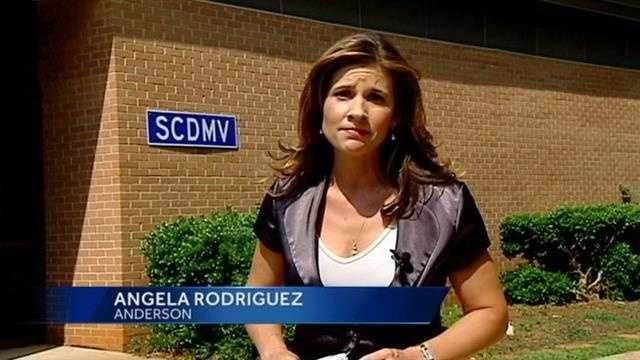 Angela reports for WYFF News 4 during the week.