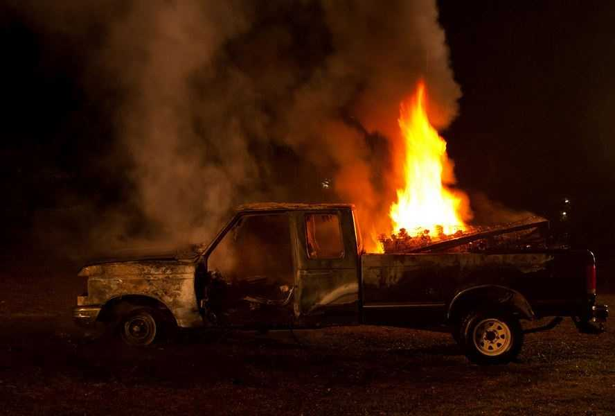 """FAR - (noun) - A conflagration.Usage: """"If my brother don't change the all in my pickup truck, that thang's gonna catch far."""""""