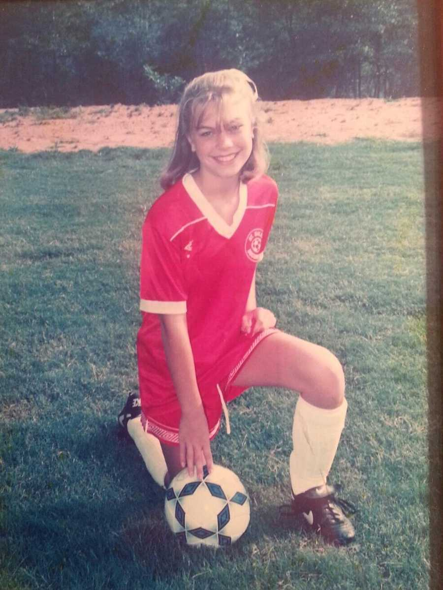 Allyson played soccer and basketball in high school.