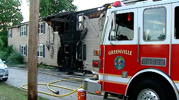 Greenville apartment fire pic