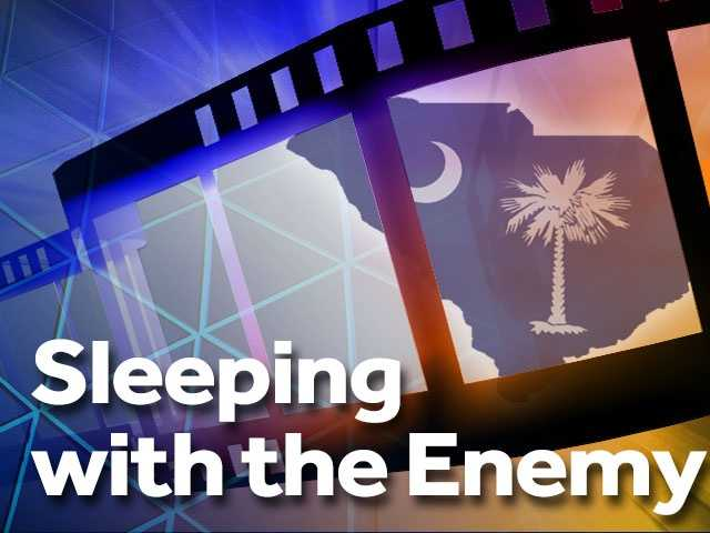 """Sleeping with the Enemy (1991) -- Abbeville, Clinton and Spartanburg. Based off a 1987 novel, this film took the top spot in the box office from reigning 12-week No. 1 movie """"Home Alone."""" Starring Julia Roberts, """"Sleeping with the Enemy"""" features a woman desperate to escape from her abusive husband."""