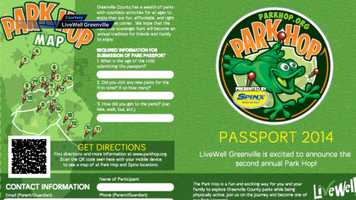 Take part in the LiveWell Greenville County Park Hop. As a part of the scavenger hunt, you and your family can visit 19 different parks and recreation venues in Greenville County, discover a clue, and be eligible to win cool prizes like REI camping gear, water park passes, and a cool Park Hop T-shirt. For more information and a Park Hop passport, click HERE.