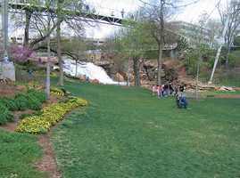 Enjoy a picnic at Falls Park on the Reedy in Downtown Greenville. Take a stroll through the park and on the famous Liberty Bridge. For more on the bridge and its history, click HERE. For a list of other parks in Greenville, click HERE.