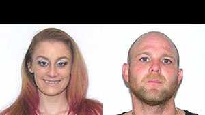 Chelsea O'Shields, William McGuffin: wanted for trafficking meth
