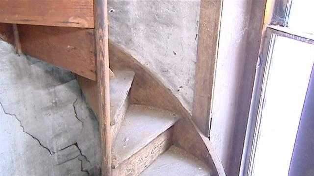 Renovators were surprised to uncover this tiny circular staircase that leads all the way to the attic of the home.