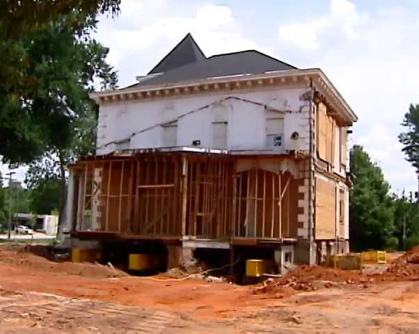 The Wilkins House weighs between 800 and 1,000 tons and when it's moved, it will likely be the heaviest house ever moved in South Carolina.