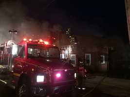 Three stations and a ladder team worked to contain the fire.