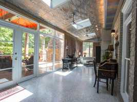 The home also features a sunroom.