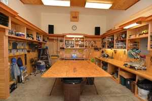 The home also has a carpenter's workshop.