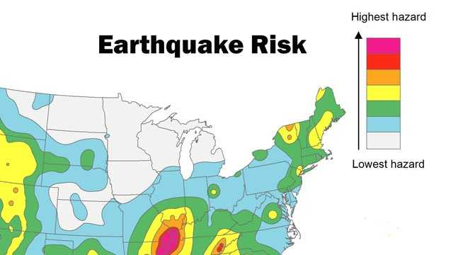 earthquake risk map