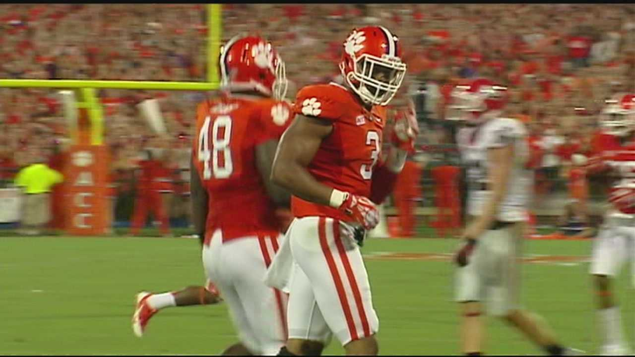 Clemson's Vic Beasley finished second