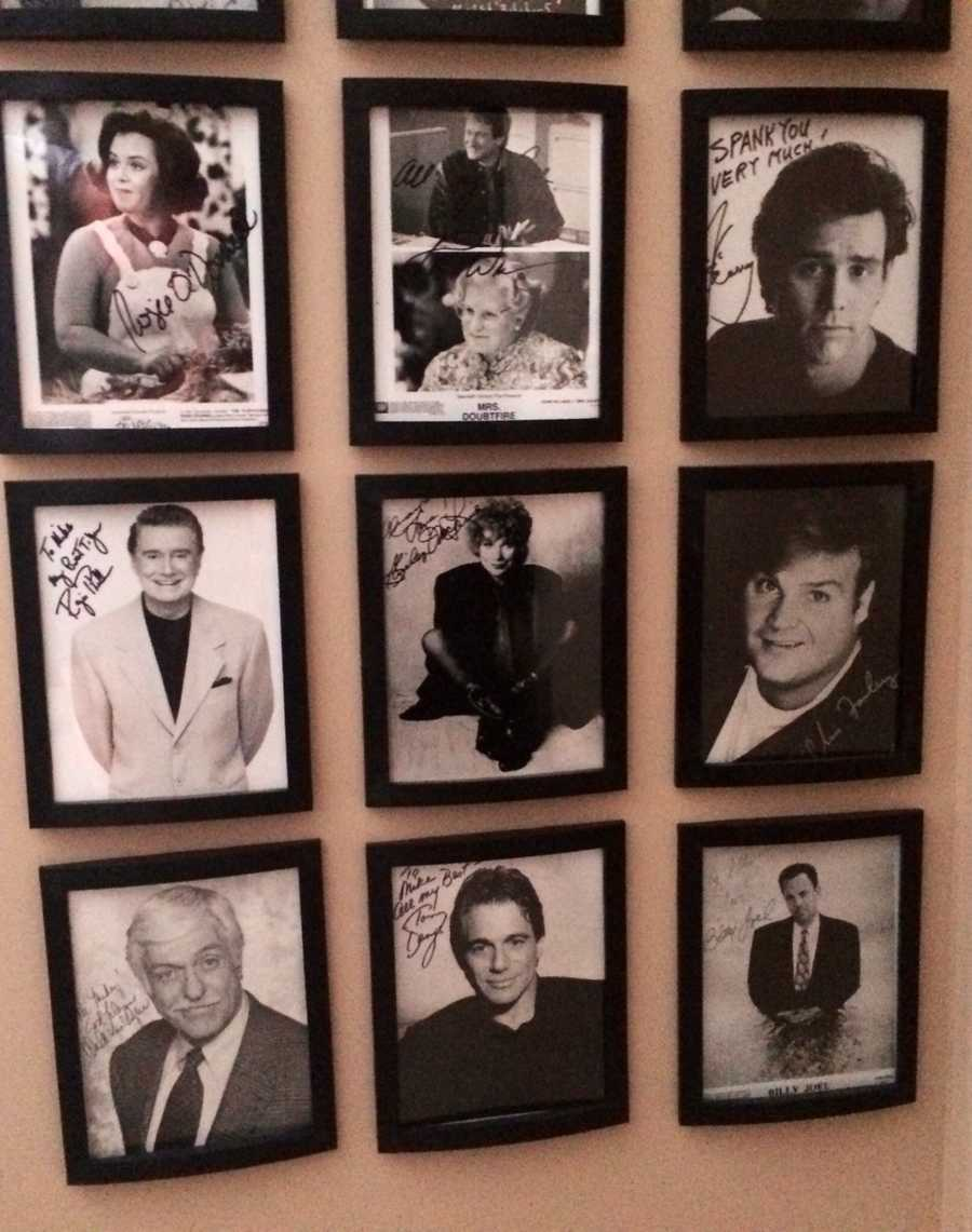 Mike collected autographs as a kid. He'd write letters to his favorite celebrities and ask them to send him a signed photo. His collection includes: Rosie O'Donnell, Robin Williams, Jim Carey, Regis Philbin, the late Chris Farley, and many others.