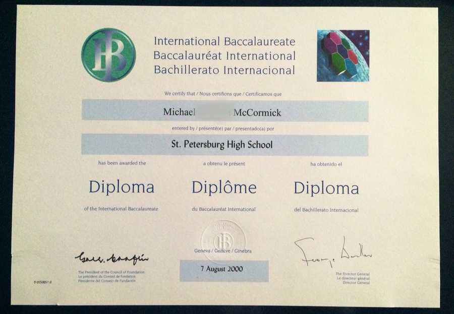Mike is a graduate of the International Baccalaureate, or IB, program. His high school offered the college-prep magnet program, which is headquartered in Switzerland.
