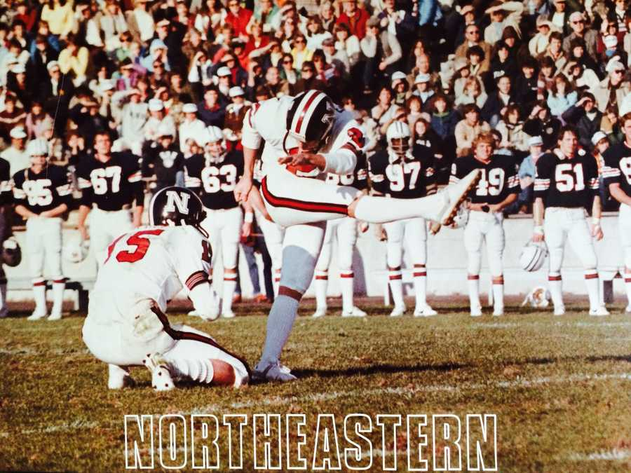 He earned a scholarship to Northeastern University in Boston where he played for the Huskies from 1981 to 1984.