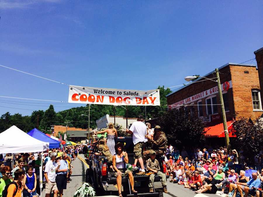"""A summer highlight for the Hart family is """"Coon Dog Day"""", a festival in his wife's hometown of Saluda, NC."""