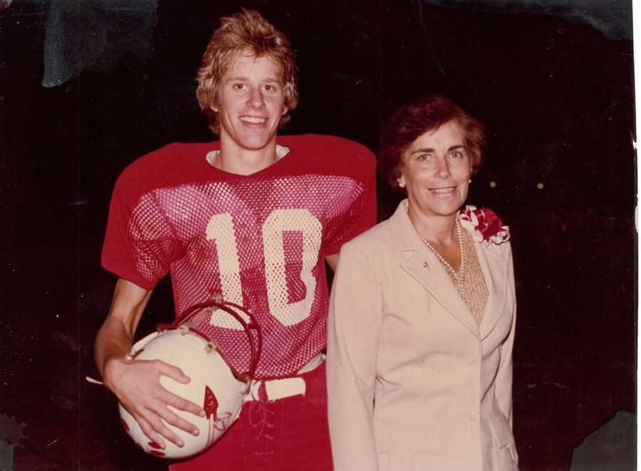 Geoff turned from British football to American football when he became the placekicker for his high school team.
