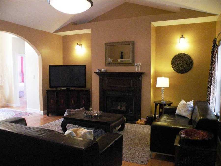 The ranch style home has 3 bedrooms and 2 full baths.