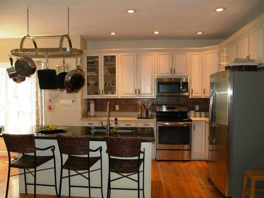 The open kitchen offers plenty of room for entertaining.