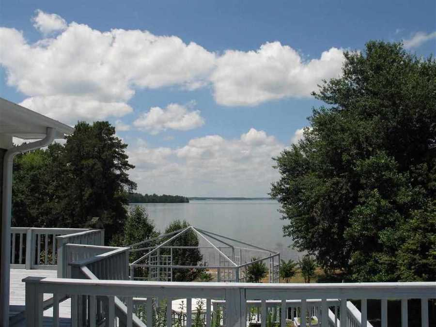 This Anderson home for rent sits on Lake Hartwell.