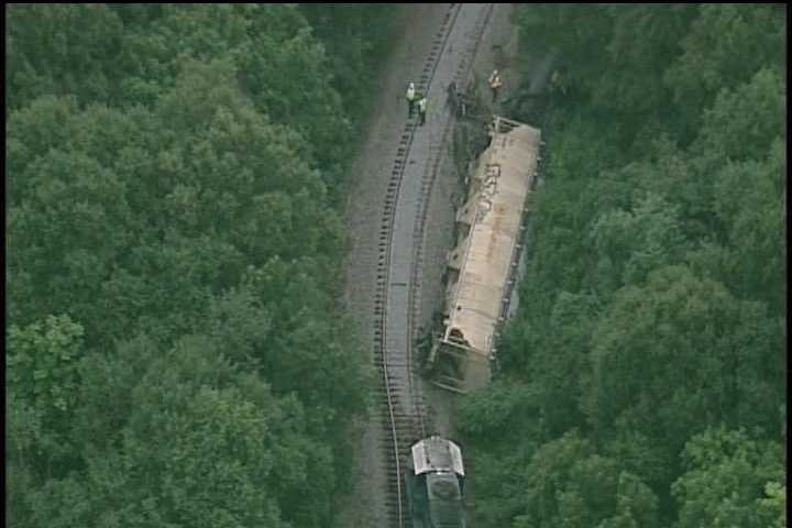 A train derailment sent fire and hazardous materials crews to work in Spartanburg Friday morning.