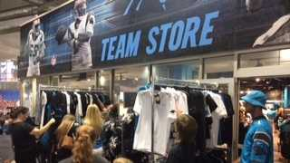 Fans stocking up on Panthers gear.