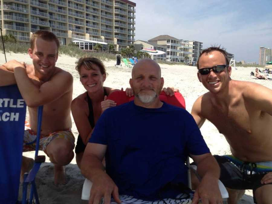 Chris enjoys vacationing with his family in Myrtle Beach.