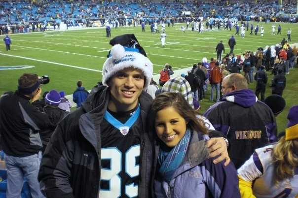Chris also has been a Carolina Panthers fan since they started.