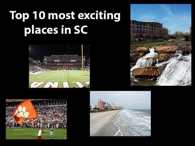 Movoto.com has released a list of The 10 Most Exciting Places in South Carolina. The website looked at places in SC with populations of 10,000 people or more and then used the following criteria: Nightlife per capita, live music venues per capita, active life options per capita, arts and entertainment per capita, fast food restaurants per capita, percentage of restaurants that are not fast food, % of young residents 18-34 and populations density.