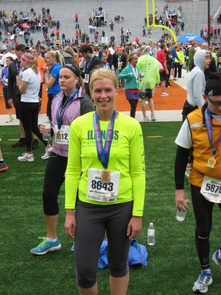 Liz likes to run. She completed her first half marathon in 2011.